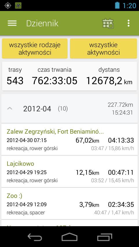 Navime Sports Tracker